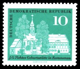 10 Pf Briefmarke: 200. Geburtstag Johann Gottlieb Fichte