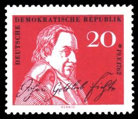 20 Pf Briefmarke: 200. Geburtstag Johann Gottlieb Fichte