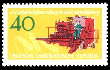 40 Pf Briefmarke: 10. Landwirtschaftsausstellung der DDR in Markkleeberg