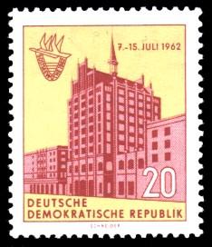 20 Pf Briefmarke: 5. Ostseewoche in Rostock 1962