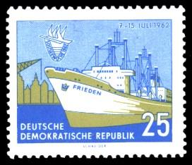 25 Pf Briefmarke: 5. Ostseewoche in Rostock 1962