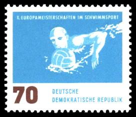 70 Pf Briefmarke: X. Europameisterschaften im Schwimmsport