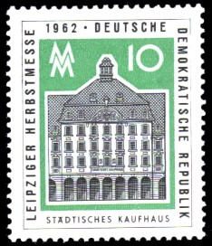 10 Pf Briefmarke: Leipziger Herbstmesse 1962