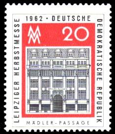 20 Pf Briefmarke: Leipziger Herbstmesse 1962