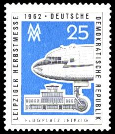 25 Pf Briefmarke: Leipziger Herbstmesse 1962
