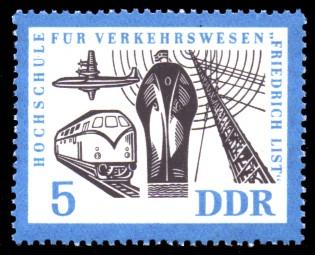 5 Pf Briefmarke: Hochschule für Verkehrswesen
