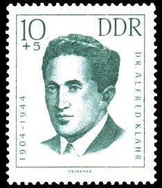 10 + 5 Pf Briefmarke: internationale Antifaschisten, Alfred Klahr