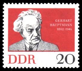 20 Pf Briefmarke: 100. Geburtstag Gerhart Hauptmann