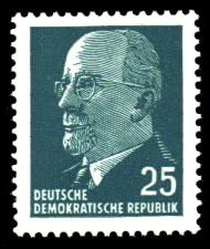 25 Pf Briefmarke: Walter Ulbricht