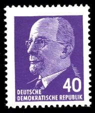 40 Pf Briefmarke: Walter Ulbricht