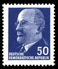 50 Pf Briefmarke: Walter Ulbricht