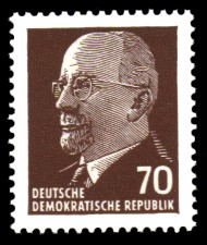 70 Pf Briefmarke: Walter Ulbricht