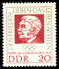 20 Pf Briefmarke: 100. Geburtstag Pierre de Coubertin