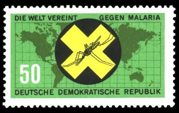 50 Pf Briefmarke: Die Welt vereint gegen Malaria