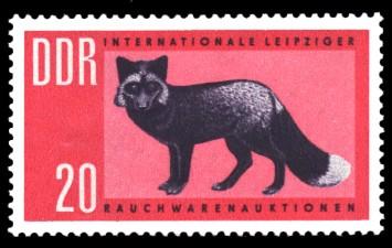 20 Pf Briefmarke: Leipziger Rauchwarenauktion, Silberfuchs