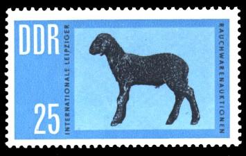 25 Pf Briefmarke: Leipziger Rauchwarenauktion, Karakulschaf
