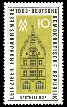 10 Pf Briefmarke: Leipziger Frühjahrsmesse 1963