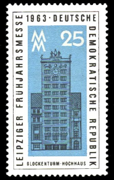 25 Pf Briefmarke: Leipziger Frühjahrsmesse 1963