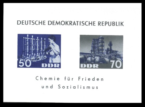Briefmarke: Block: Chemie für Frieden und Sozialismus