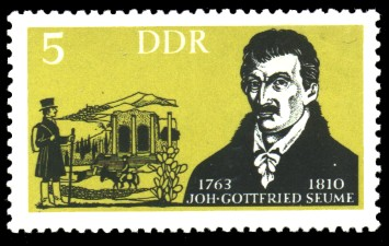 5 Pf Briefmarke: Berühmte deutsche Künstler, Joh. Gottfried Seume