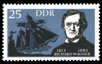 25 Pf Briefmarke: Berühmte deutsche Künstler, Richard Wagner