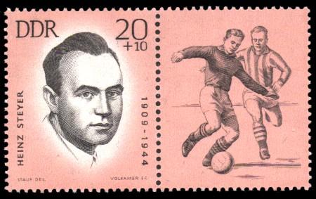 20 + 10 Pf Briefmarke: Antifaschisten - Sportler, Heinz Steyer