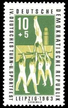 10 + 5 Pf Briefmarke: IV. Deutsches Turn- und Sportfest