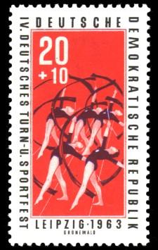 20 + 10 Pf Briefmarke: IV. Deutsches Turn- und Sportfest