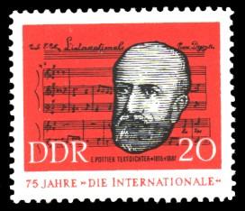 20 Pf Briefmarke: 75 Jahre 'Die Internationale'