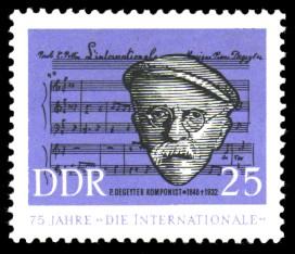 25 Pf Briefmarke: 75 Jahre 'Die Internationale'