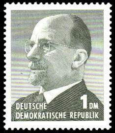 1 DM Briefmarke: Walter Ulbricht