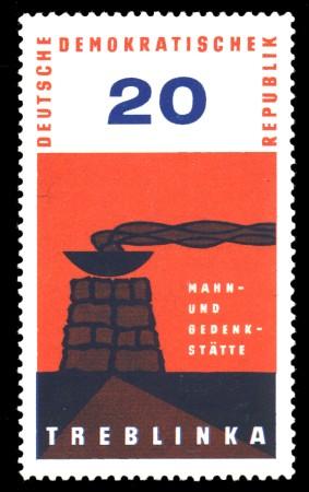 20 Pf Briefmarke: Treblinka, Mahn- und Gedenkstätte