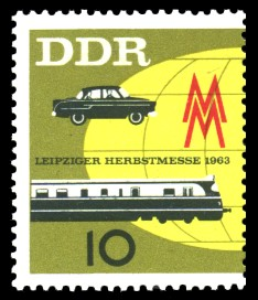 10 Pf Briefmarke: Leipziger Herbstmesse 1963