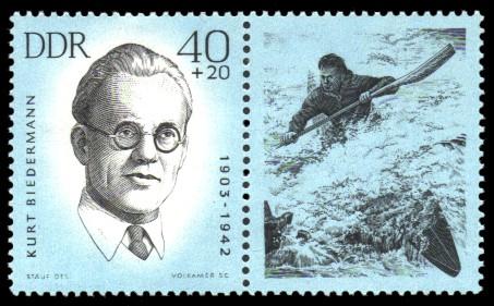 40 + 20 Pf Briefmarke: Antifaschisten - Sportler, Kurt Biedermann