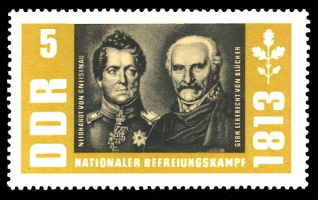 5 Pf Briefmarke: Nationaler Befreiungskampf 1813