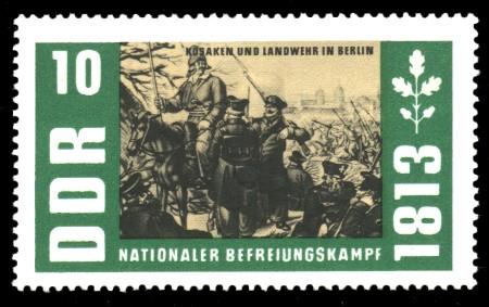10 Pf Briefmarke: Nationaler Befreiungskampf 1813