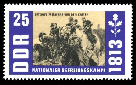 25 Pf Briefmarke: Nationaler Befreiungskampf 1813