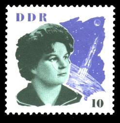 10 Pf Briefmarke: W. Tereschkowa in der DDR