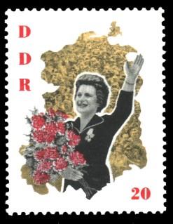 20 Pf Briefmarke: W. Tereschkowa in der DDR