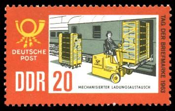 20 Pf Briefmarke: Tag der Briefmarke 1963