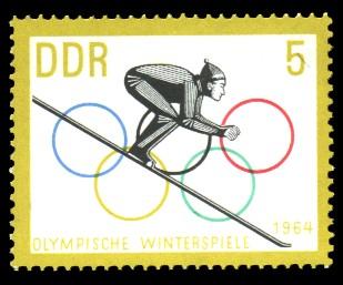 5 Pf Briefmarke: Olympische Winterspiele 1964