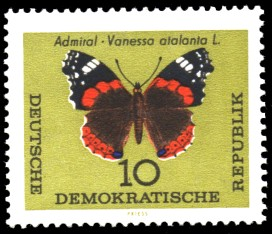 10 Pf Briefmarke: Schmetterlinge