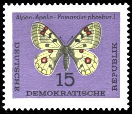 15 Pf Briefmarke: Schmetterlinge