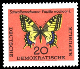 20 Pf Briefmarke: Schmetterlinge