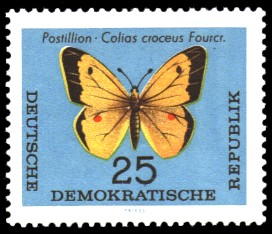 25 Pf Briefmarke: Schmetterlinge