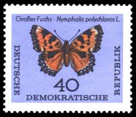 40 Pf Briefmarke: Schmetterlinge
