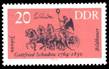 20 Pf Briefmarke: Berühmte Künstler, Johann Gottfried Schadow