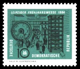 10 Pf Briefmarke: Leipziger Frühjahrsmesse 1964
