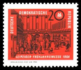 20 Pf Briefmarke: Leipziger Frühjahrsmesse 1964