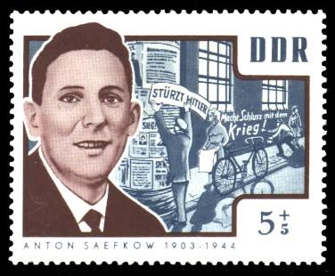 5 + 5 Pf Briefmarke: Antifaschisten, Anton Saefkow